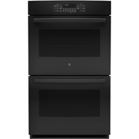 G.E. JT5500DFBB 30 in. Black Convection Double Wall Oven - JT5500DFBB - IN STOCK