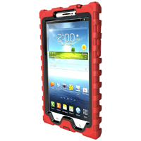 Hard Candy Shock Drop Case for Samsung Galaxy Tab 3 7 in. - Black & Red - SD7-SAM3-RED-BLK / SD7SAM3REDBL - IN STOCK
