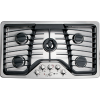 G.E. Profile PGP986SETSS 36 in. Stainless 5 Burner Gas Cooktop - PGP986SETSS - IN STOCK