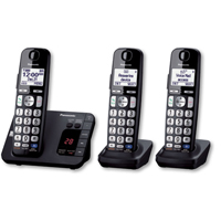 Panasonic DECT 6.0 Plus Digital Cordless Answering System w/ 3 Handsets - KX-TGE233B / KXTGE233 - IN STOCK