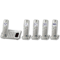 Panasonic DECT 6.0 Plus Link2Cell Bluetooth� Answering System w/ 5 Handsets - KX-TGE275S / KXTGE275 - IN STOCK