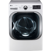 LG DLEX8000W Electric 9.0 Cu. Ft. White Front Load Steam Dryer - DLEX8000W - IN STOCK