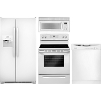 Frigidaire 4 Pc. White Side-by-side Kitchen Package - FRIGSXSKITWT - IN STOCK