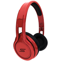 SMS Audio STREET by 50 Cent On Ear Headphones - Red - SMS-ONWD-RED / SMSONWDRED - IN STOCK