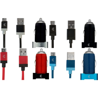 Case Logic 2.1 Amp. Micro Dual Usb Vehicle Charger - Assorted Colors - CL2.1MC101-C / CL21MC101C - IN STOCK