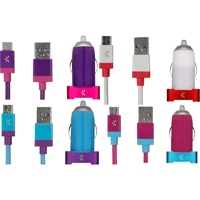 Case Logic 2.1 Amp. Micro Dual Usb Vehicle Charger - Assorted Colors - CL2.1MC102-C / CL21MC102C - IN STOCK