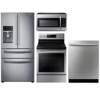 Samsung 4 Pc. Stainless French Door Kitchen Package - RF284DOORKIT - IN STOCK