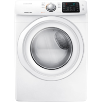 Samsung DV42H5000EW Electric 7.5 Cu. Ft. White Front Load Dryer - DV42H5000EW - IN STOCK