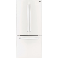 LG LFC22770SW 22 Cu. Ft. 30 in. Width White French Door Refrigerator - LFC22770SW - IN STOCK