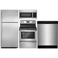 Frigidaire 4 Pc. Stainless Top Freezer Kitchen Package - FRIGKITTM21 - IN STOCK