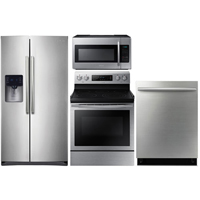 Samsung 4 Pc. Stainless Side-by-Side Kitchen Package - RS511STSKIT - IN STOCK