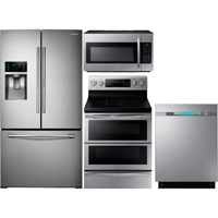 Samsung 4 Pc. Stainless FoodShowcase French Door Kitchen Package - RF28DNDSTKIT - IN STOCK