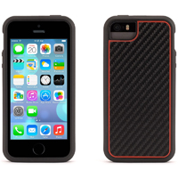 Griffin Identity for iPhone 5/5s - Graphite Black & Red - GB39635 - IN STOCK
