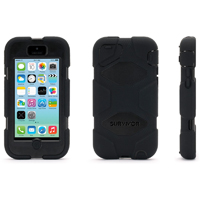 Griffin Survivor for iPhone 5c - Black - GB38141 - IN STOCK