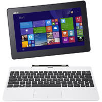 Asus Transformer Book 10.1 in., Intel Atom Z3775, 2GB RAM, 64GB Solid State Drive, Windows 8, Tablet PC - White - T100TA-C1-WH(S) / T100TAC1WHS - IN STOCK