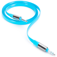 Griffin Fluoro Flat AUX Cable - Blue - GC37378 - IN STOCK