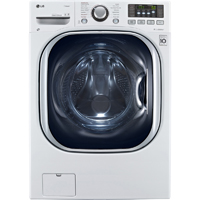 LG WM3997HWA 4.3 Cu. Ft. White Front Load Steam Washer/Dryer - WM3997HWA - IN STOCK
