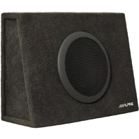 Alpine Truck Subwoofer Enclosure With 10 in. Single 2-Ohm Subwoofer - SBT-S10V / SBTS10V