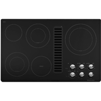 Kitchen Aid Architect II KECD867XBL 36 in. Black 5 Burner Downdraft Electric Cooktop - KECD867XBL - IN STOCK
