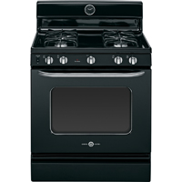 G.E. Artistry AGBS45DEFBS 4.8 Cu. Ft. Black Freestanding Gas Range - AGBS45DEFBS - IN STOCK