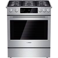 Bosch 800 Series HGI8054UC 4.8 Cu. Ft. Stainless 5 Burner Slide-in Gas Range - HGI8054UC - IN STOCK