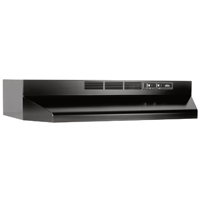 Broan 30 in., Black, Under Cabinet Hood, Non-ducted - 413023 - IN STOCK