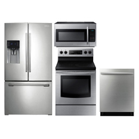 Samsung 4 Pc. Stainless French Door Kitchen Package - RF263STSKIT - IN STOCK
