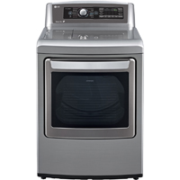 LG DLEX5680V Electric 7.3 Cu. Ft. Graphite High Efficiency Top Load Steam Dryer - DLEX5680V - IN STOCK
