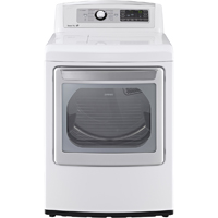 LG DLEX5680W Electric 7.3 Cu. Ft. White High Efficiency Top Load Steam Dryer - DLEX5680W - IN STOCK
