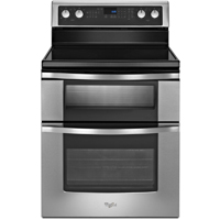 Whirlpool WGE555S0BS 6.7 Cu. Ft. Stainless 5 Burner Double Oven Range - WGE555S0BS - IN STOCK