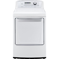 LG DLE4970W Electric 7.3 Cu. Ft. White High Efficiency Top Load Dryer - DLE4970W - IN STOCK