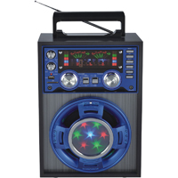 QFX Karaoke Multimedia Speaker with AM/FM/SW1-2 Band Radio - CS-143 / CS143 - IN STOCK