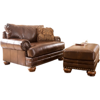 Ashley Signature Design Chaling DuraBlend Antique Chair and a Half - 9920023 - IN STOCK