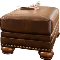 Ashley Signature Design 9920014 Chaling DuraBlend� Antique Ottoman - 9920014 / 9920014 - IN STOCK
