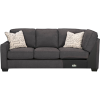 Ashley Signature Design 1660166 Alenya Charcoal Vintage Casual LAF Sofa - 1660166 / 1660166 - IN STOCK