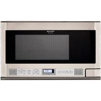 Sharp R1214 1.5 Cu. Ft. 1100W Stainless Over-the-Counter Microwave Oven - R-1214 / R1214 - IN STOCK