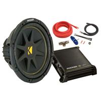 Kicker 12 in. Subwoofer & Amplifier Kit - 42KCB12512 - IN STOCK