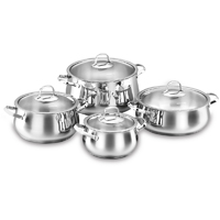 Korkmaz Mona 8 pcs. Cookware Set - A1626MONA - IN STOCK
