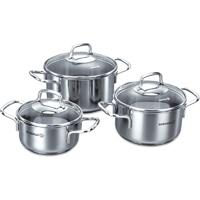 Korkmaz Perla JR. 6pcs. Caserole Cookware Set - A1650PERLA - IN STOCK