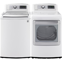 LG White High Efficiency Washer/Dryer Pair - WT5680WRP - IN STOCK