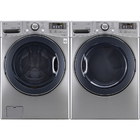 LG Graphite Front Load Washer/Dryer Pair - WM3570VPR - IN STOCK