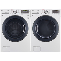 LG White Front Load Washer/Dryer Pair - WM3570WPR - IN STOCK