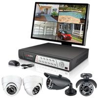 Spyclops 4 Channel Security DVR Kit with Bullet & Dome Cameras - SPY-DVR4KIT1 / SPYDVR4KIT1 - IN STOCK