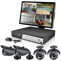 Spyclops 4 Channel Security DVR Kit with Bullet Cameras - SPY-DVR4KIT2 / SPYDVR4KIT2 - IN STOCK