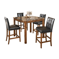 Ashley Signature Design Theo Series Counter Height Brown Table & Stool Set - D158-233 / D158COUNTER - IN STOCK