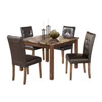 Ashley Signature Design Theo Series Brown Table & Chair Set - D158-225 / D158STANDARD - IN STOCK