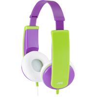 JVC Tinyphones Kids On-the-Ear Headphones - Purple - HA-KD6-V / HAKD6V - IN STOCK