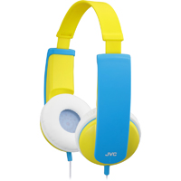 JVC Tinyphones Kids On-the-Ear Headphones - Yellow - HA-KD6-Y / HAKD6Y - IN STOCK