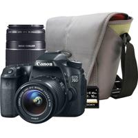 Canon EOS 70D 20.2 MP DSLR W/ EF-S 18-55mm IS II Kit Lens and 55-250mm F/4-5.6 IS BUNDLE - REBEL70DPK1