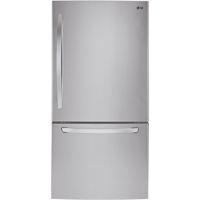 LG LDC24370ST 23.8 Cu. Ft. 33 in. Width Stainless Bottom Freezer Refrigerator - LDC24370ST - IN STOCK